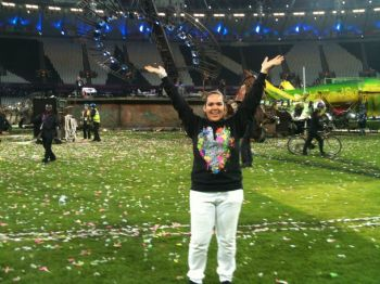 Last Out: me at the end of the Paralympics closing ceremony.