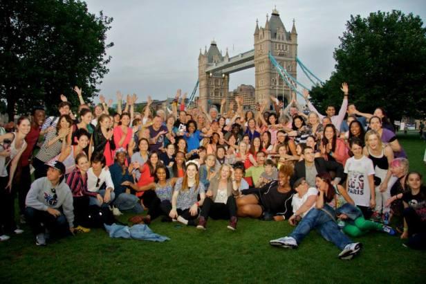 Flash mob participants