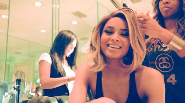 Goodies singer Ciara never has swimmers hair.