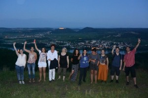 Jugend info team at lookout point in Krems