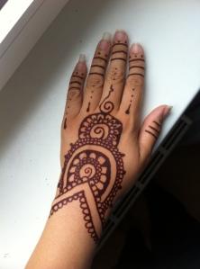 Henna tattoo on Lettice