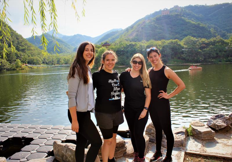 Members of Female Expats in Beijing (FEB) at Lakeside Great Wall.