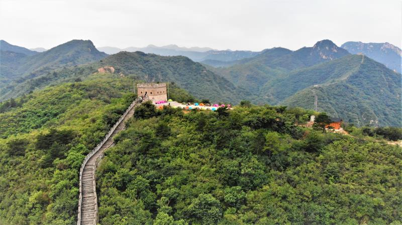 Our camp site on the Great Wall of China.